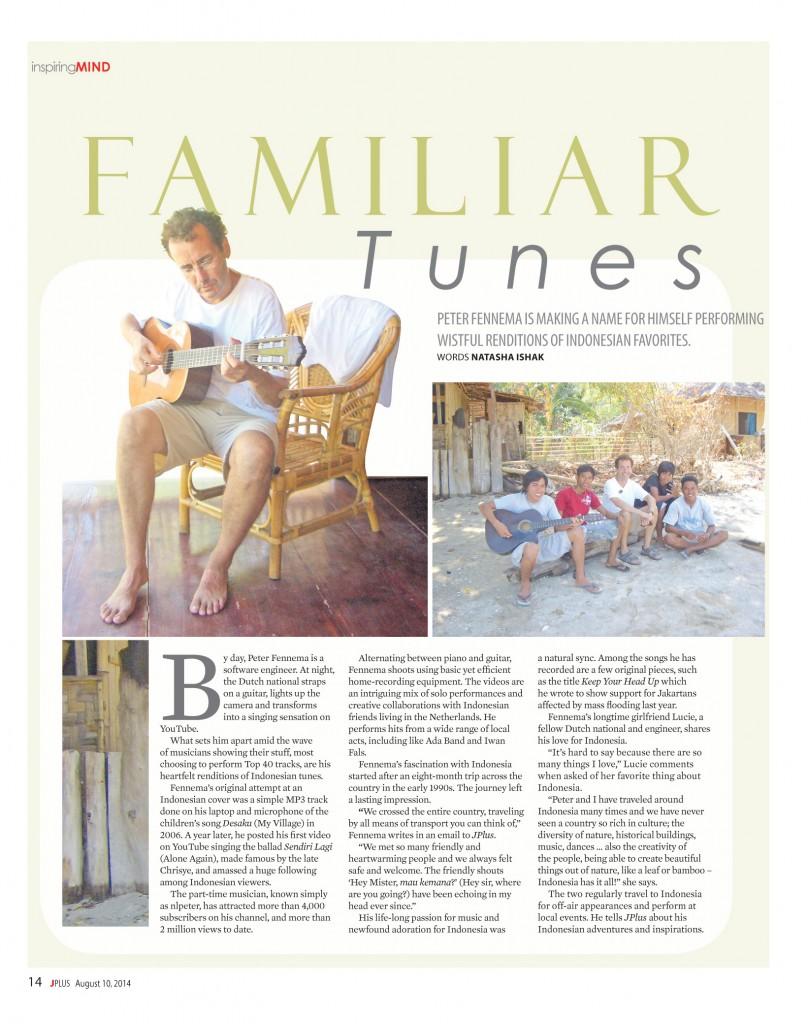 Familiar Tunes Jakarta Post